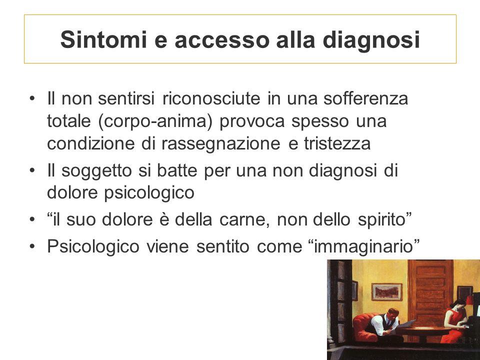 Sintomi e accesso alla diagnosi