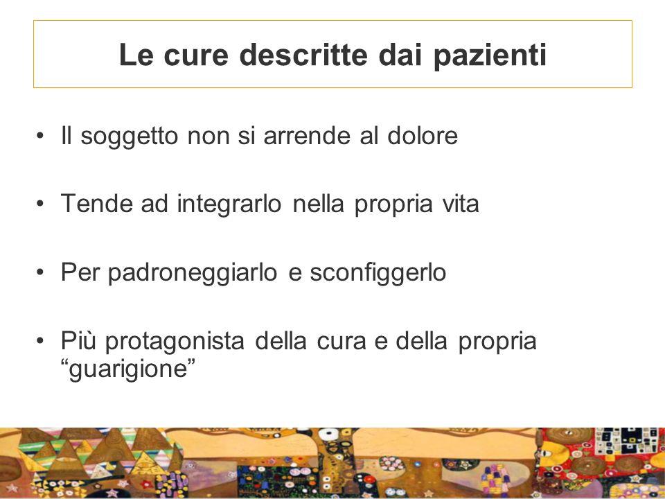 Le cure descritte dai pazienti