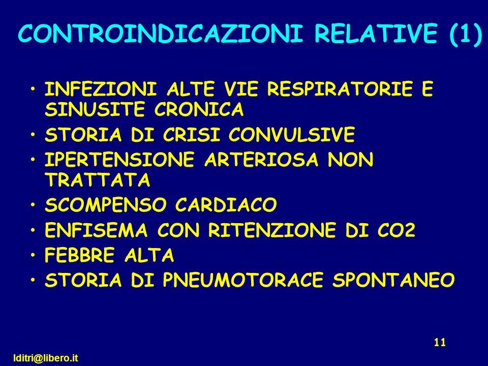 CONTROINDICAZIONI RELATIVE (1)