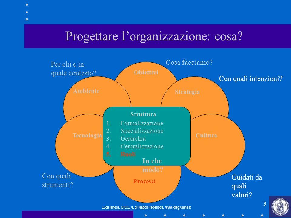 Progettare l'organizzazione: cosa