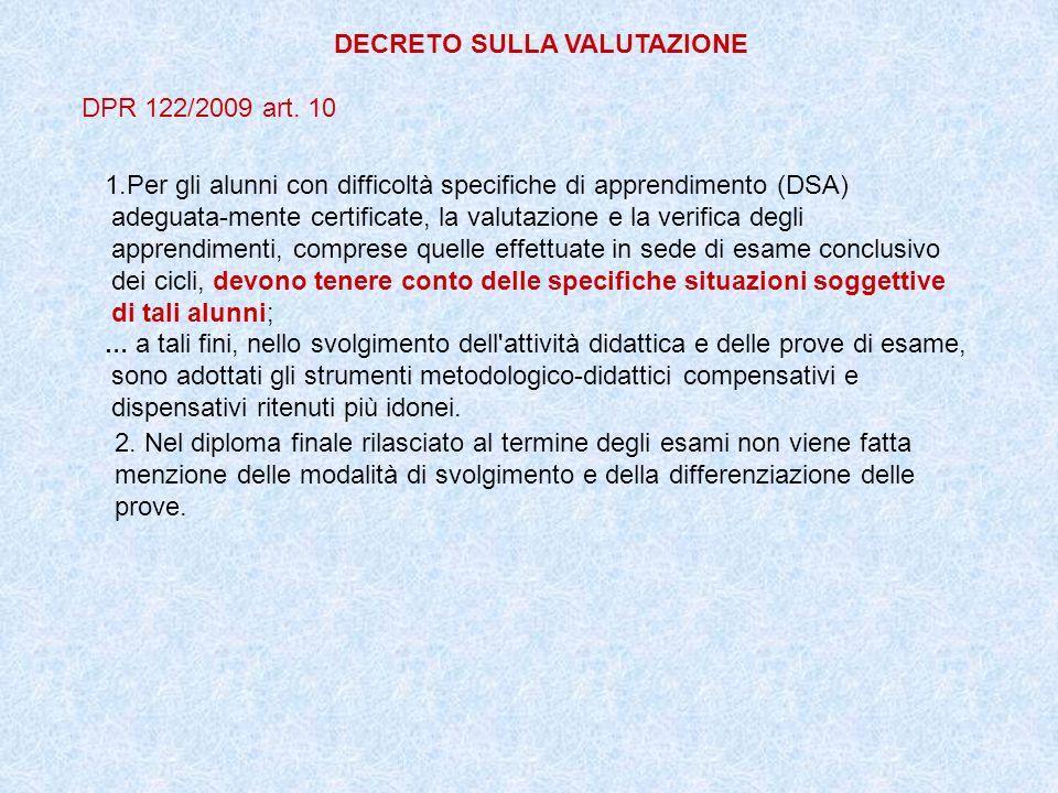 DECRETO SULLA VALUTAZIONE
