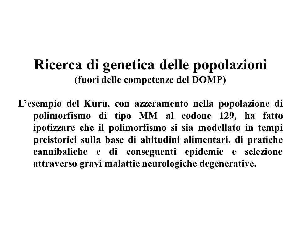 Ricerca di genetica delle popolazioni