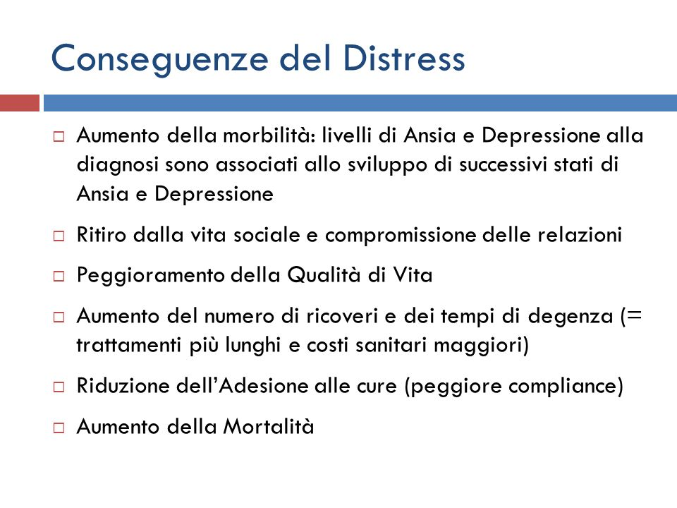 Conseguenze del Distress