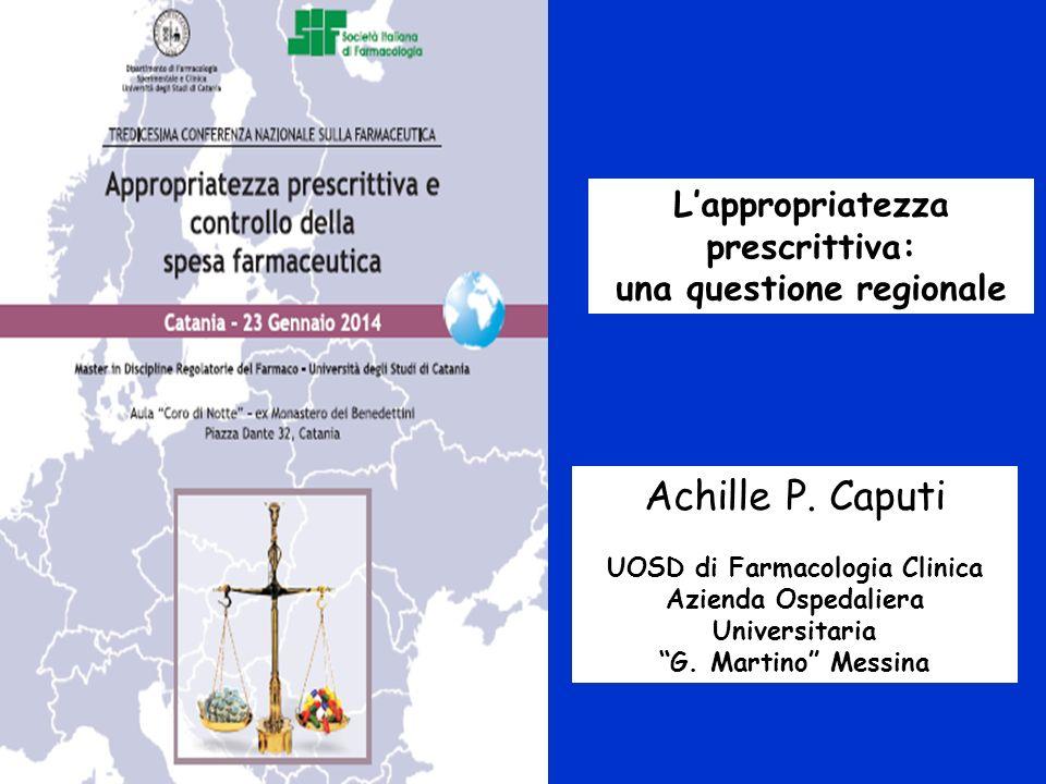 Achille P. Caputi L'appropriatezza prescrittiva: