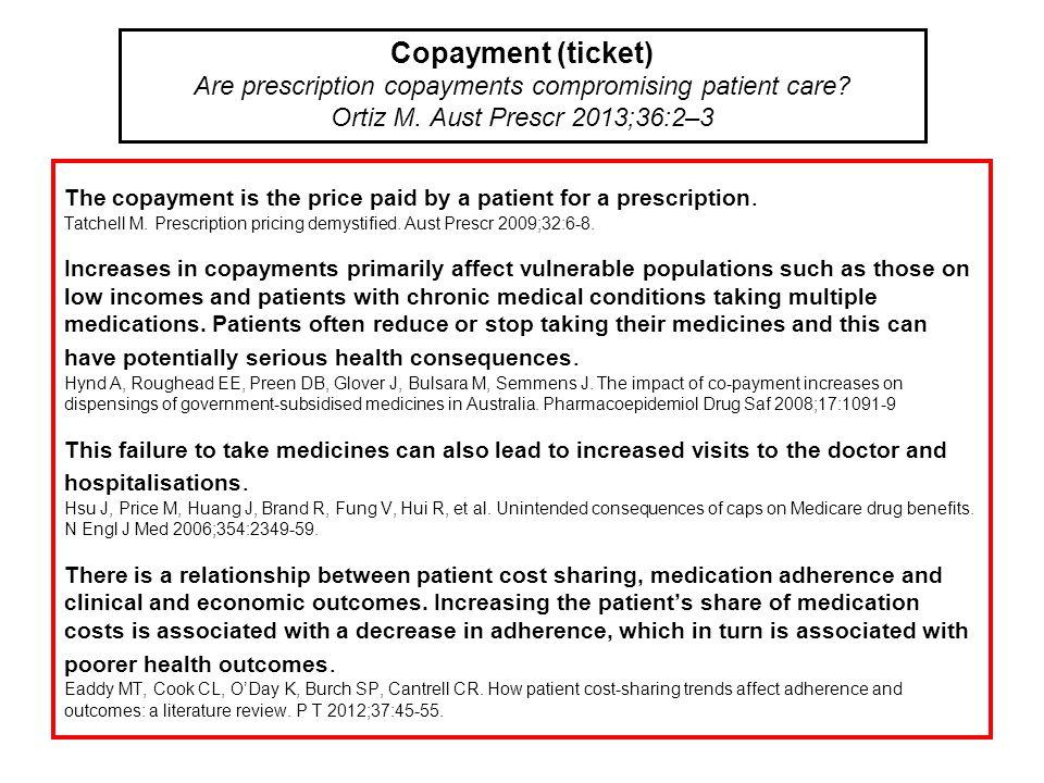 Are prescription copayments compromising patient care