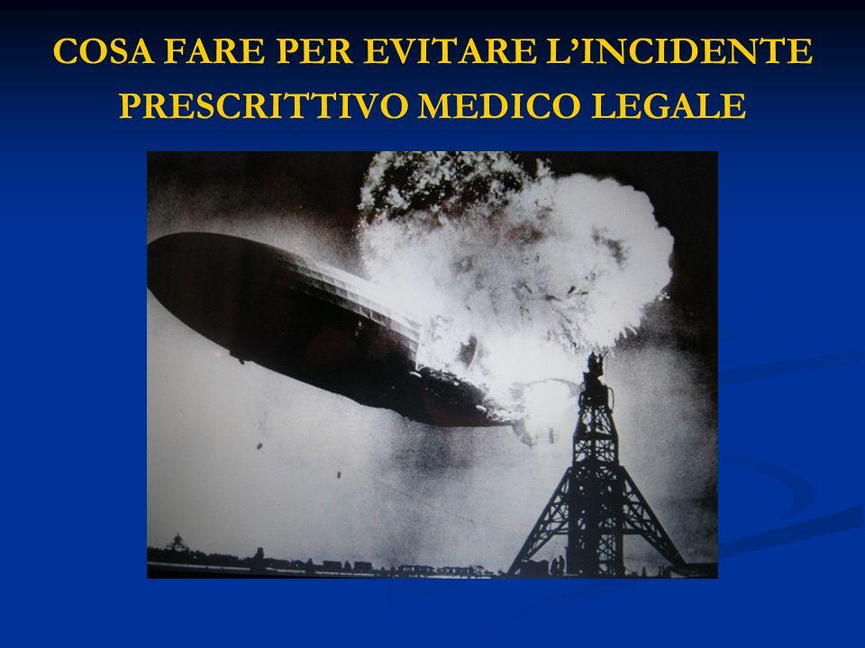 COSA FARE PER EVITARE L'INCIDENTE PRESCRITTIVO MEDICO LEGALE