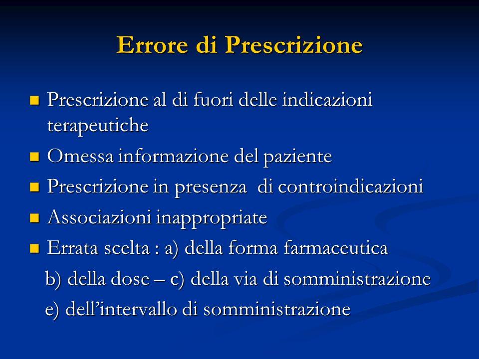 Errore di Prescrizione