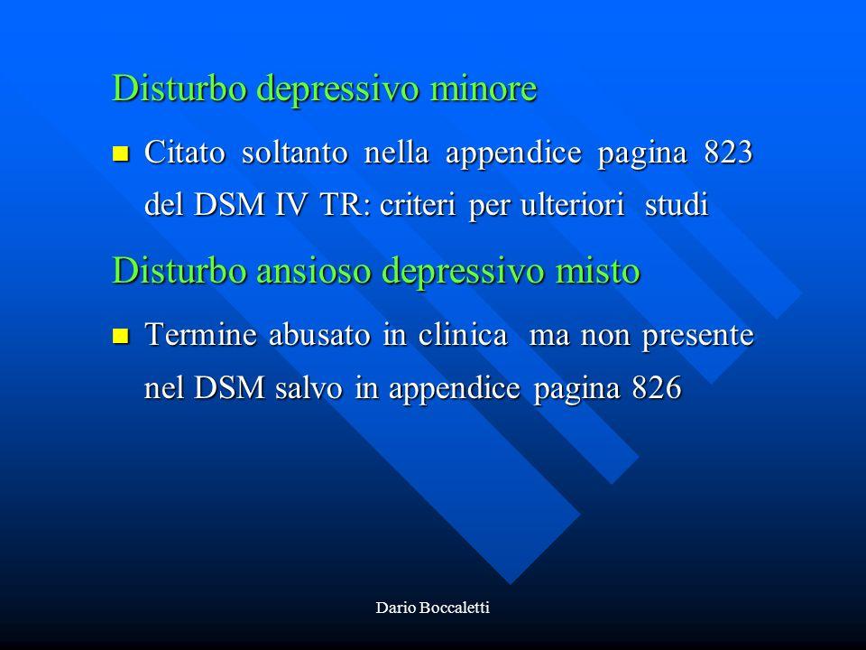 Disturbo depressivo minore