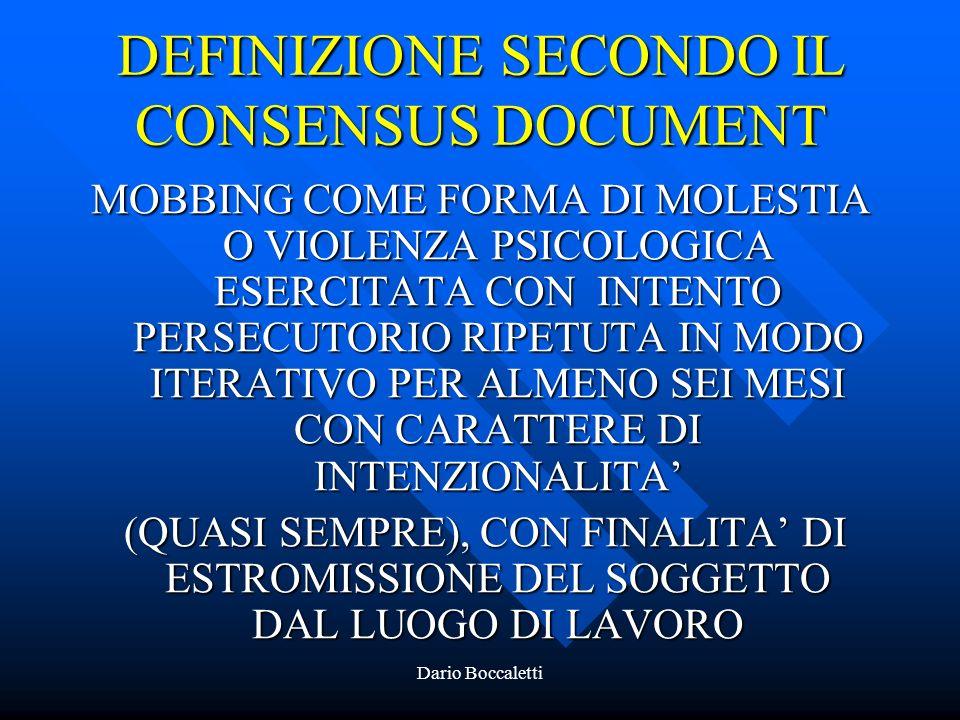 DEFINIZIONE SECONDO IL CONSENSUS DOCUMENT