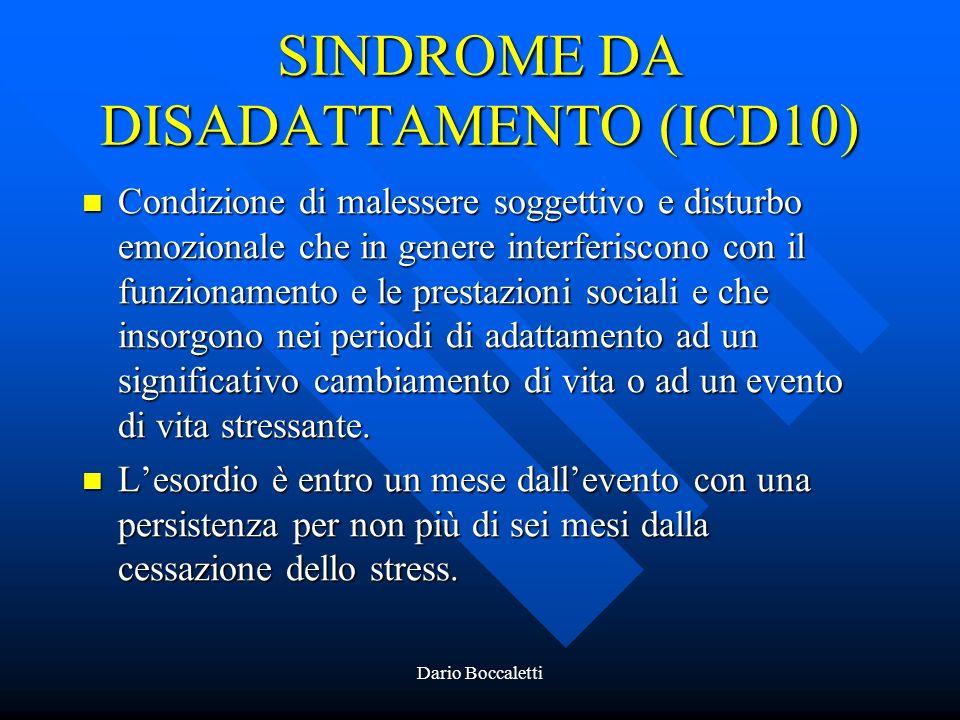 SINDROME DA DISADATTAMENTO (ICD10)