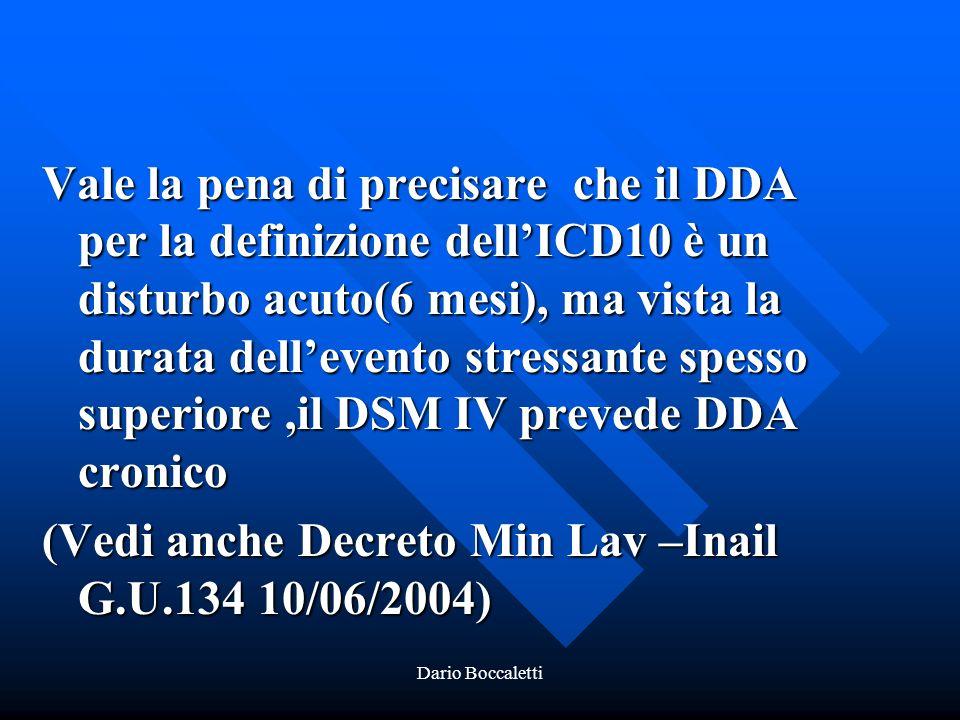 (Vedi anche Decreto Min Lav –Inail G.U.134 10/06/2004)