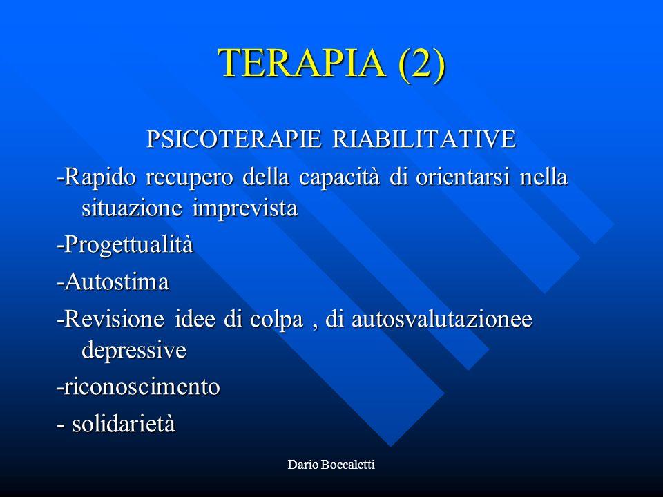PSICOTERAPIE RIABILITATIVE