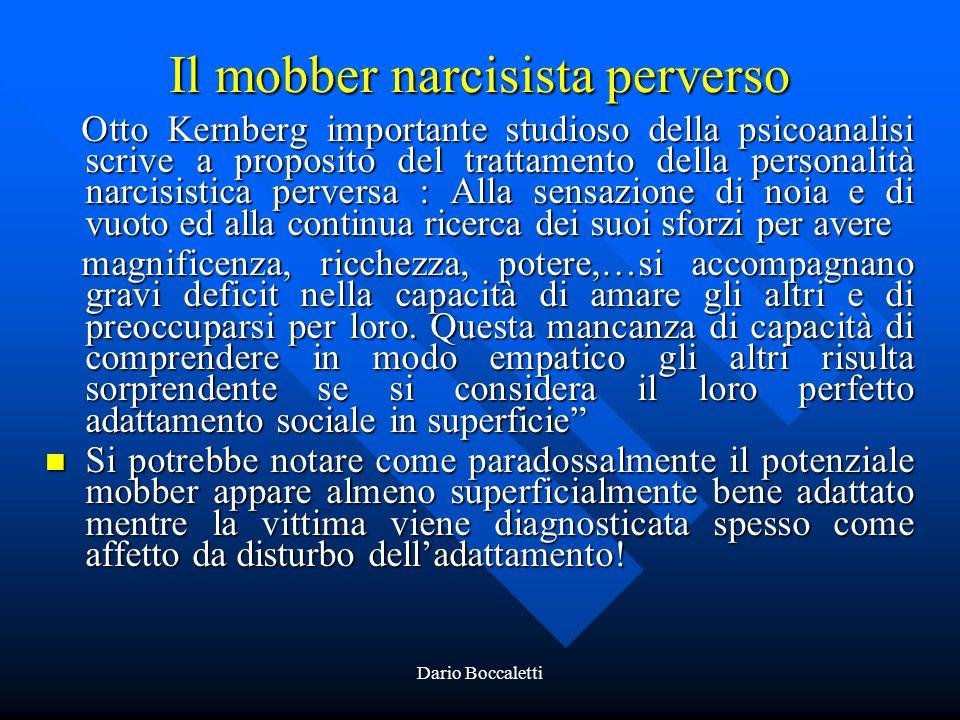 Il mobber narcisista perverso