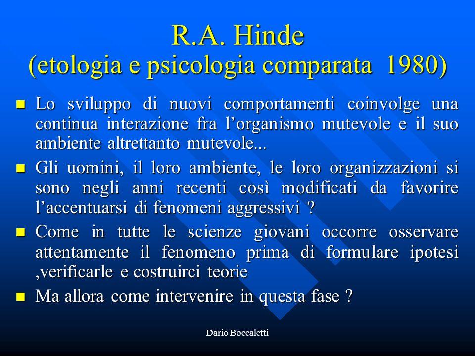 R.A. Hinde (etologia e psicologia comparata 1980)