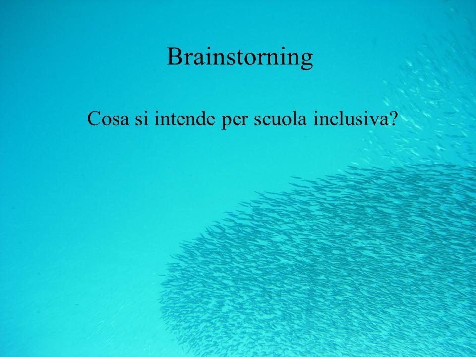 Brainstorning Cosa si intende per scuola inclusiva
