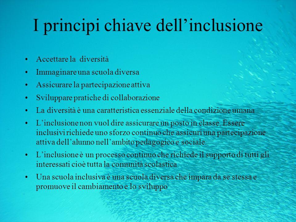 I principi chiave dell'inclusione