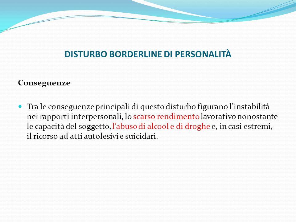 DISTURBO BORDERLINE DI PERSONALITÀ