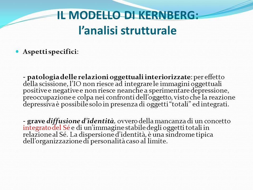 IL MODELLO DI KERNBERG: l'analisi strutturale
