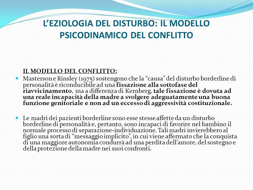 L'EZIOLOGIA DEL DISTURBO: IL MODELLO PSICODINAMICO DEL CONFLITTO