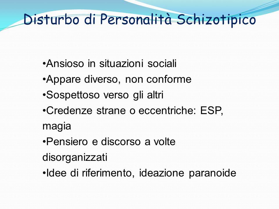 Disturbo di Personalità Schizotipico