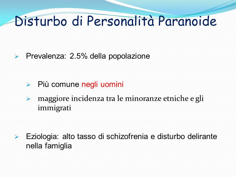 Disturbo di Personalità Paranoide