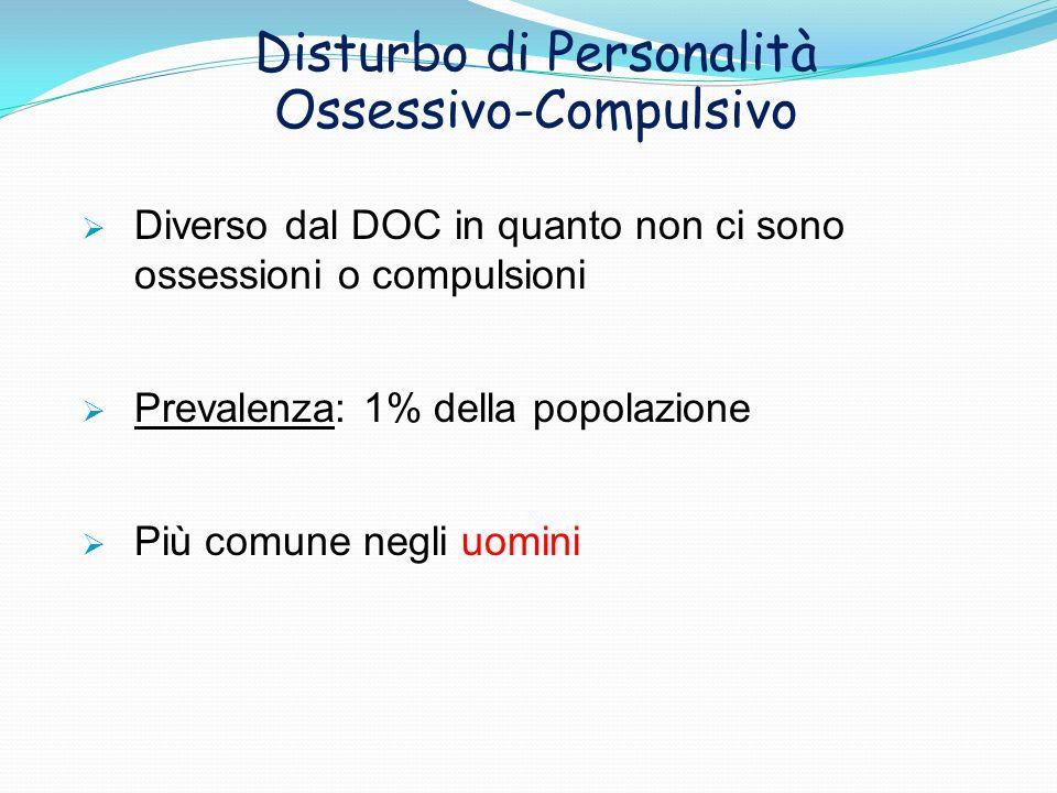 Disturbo di Personalità Ossessivo-Compulsivo
