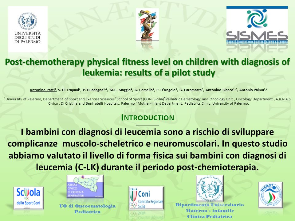 Post-chemotherapy physical fitness level on children with diagnosis of