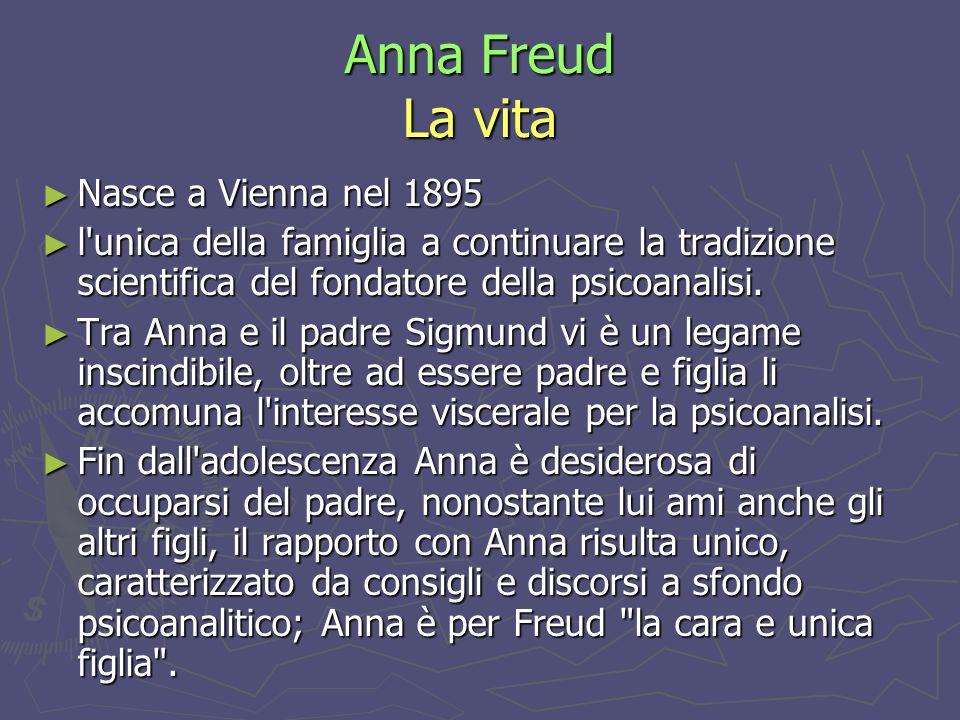 Anna Freud La vita Nasce a Vienna nel 1895
