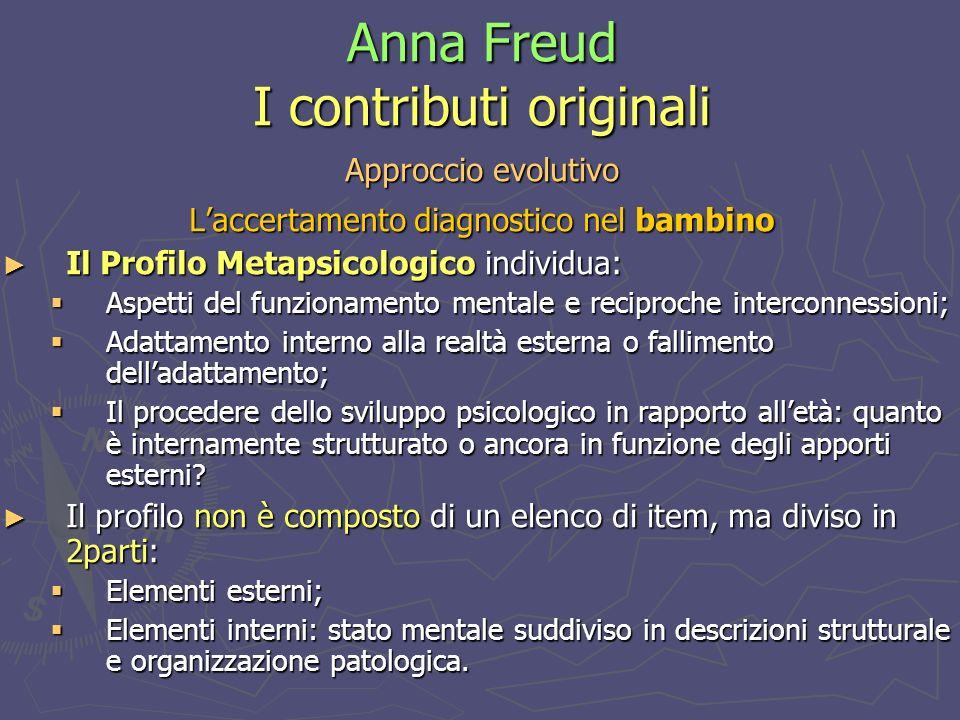 Anna Freud I contributi originali