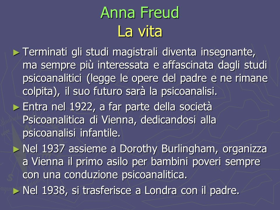 Anna Freud La vita