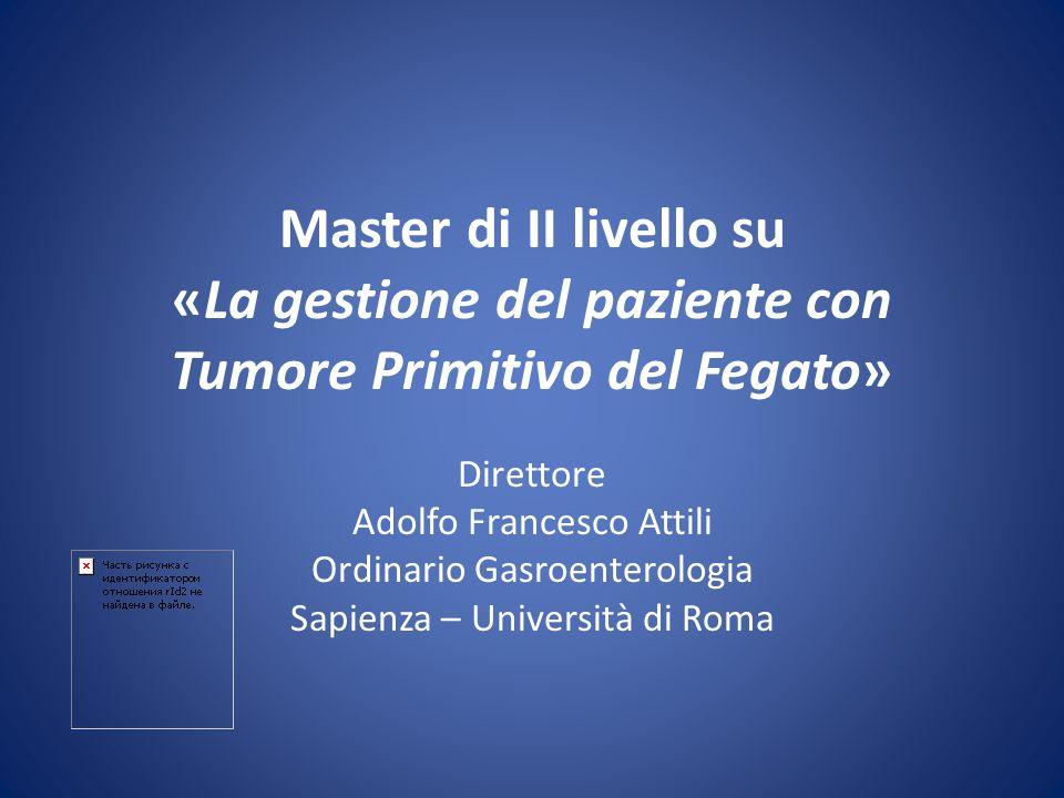 Master di II livello su «La gestione del paziente con Tumore Primitivo del Fegato»