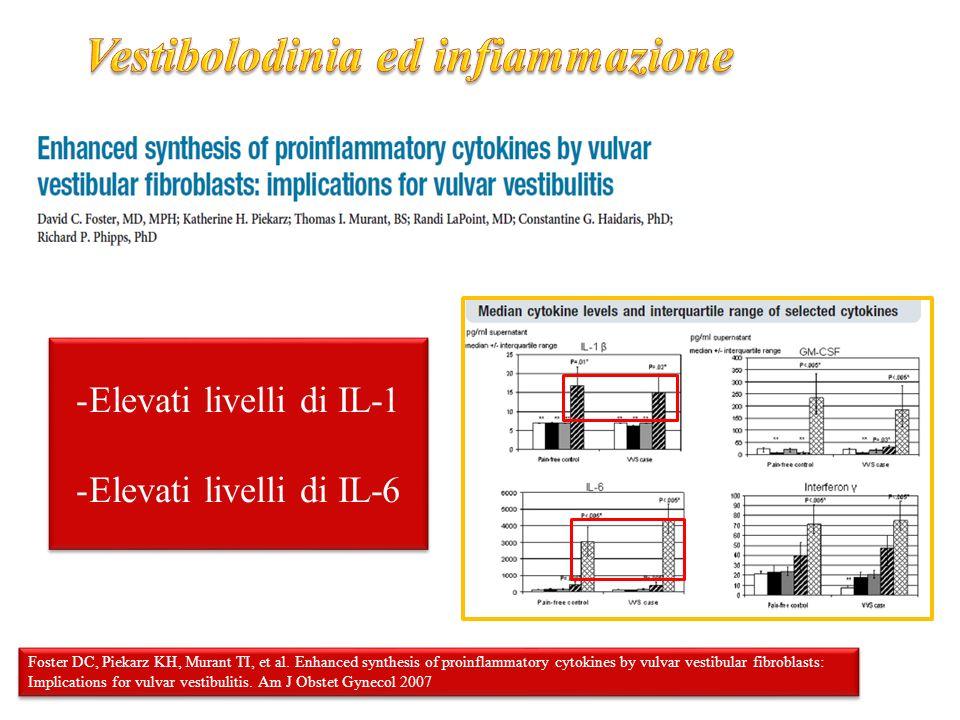 Vestibolodinia ed infiammazione