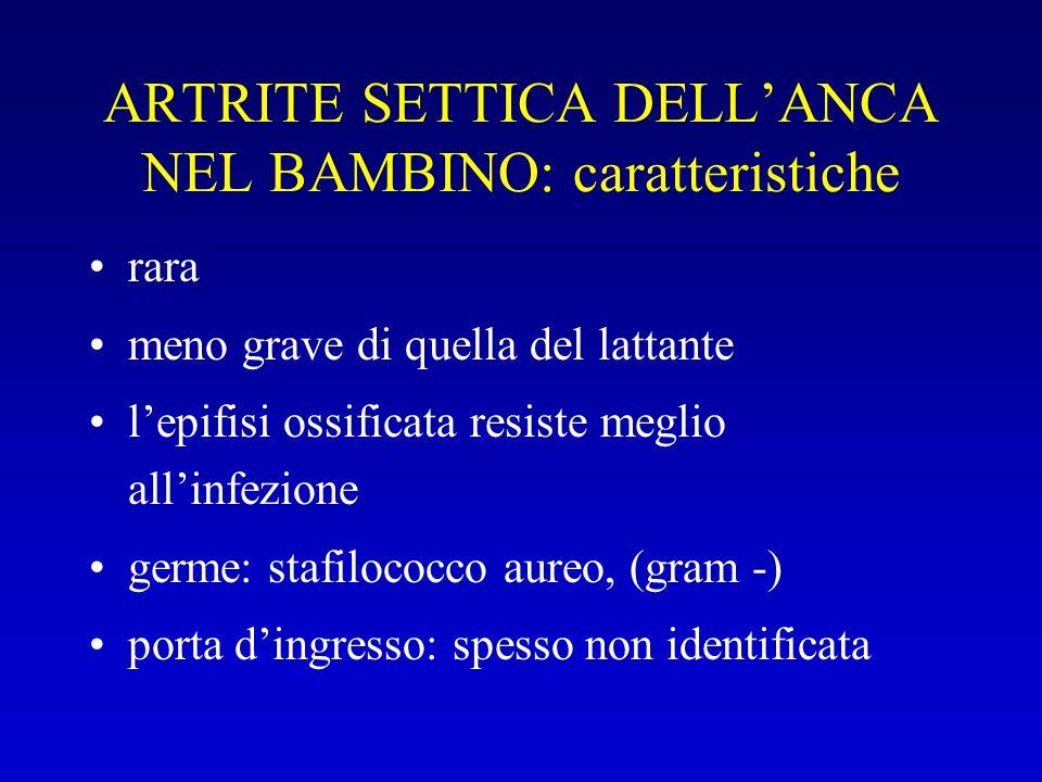 ARTRITE SETTICA DELL'ANCA NEL BAMBINO: caratteristiche