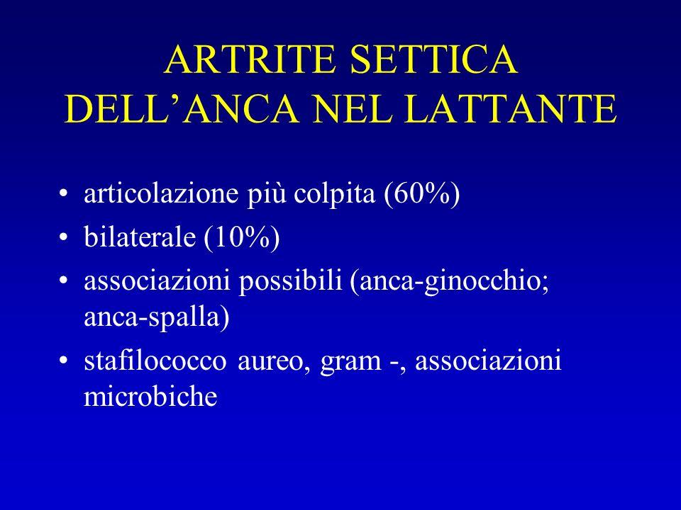ARTRITE SETTICA DELL'ANCA NEL LATTANTE