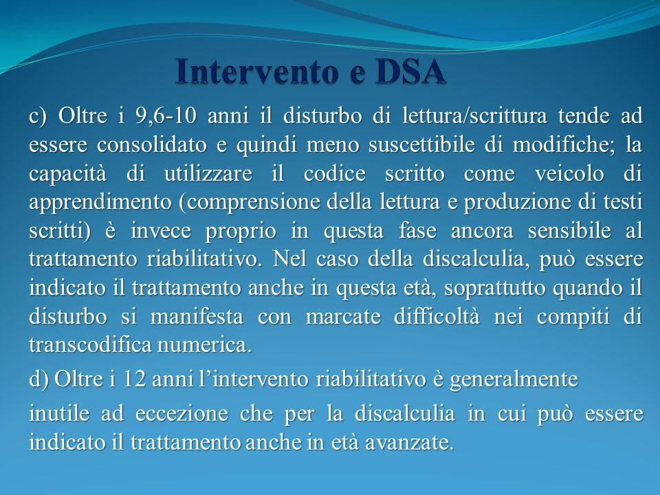 Intervento e DSA