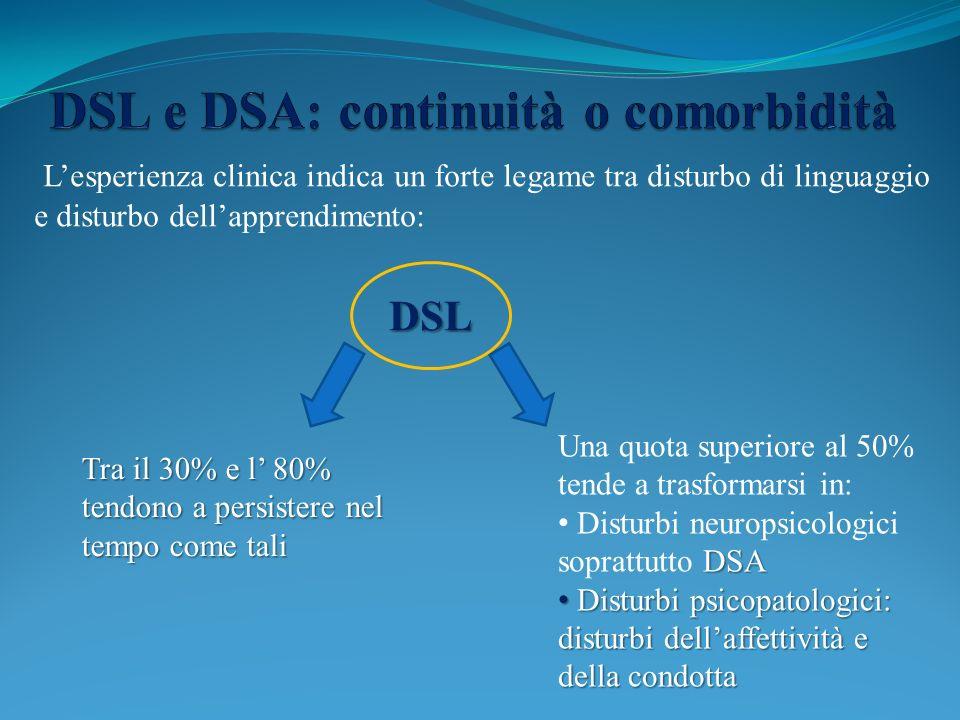 DSL e DSA: continuità o comorbidità