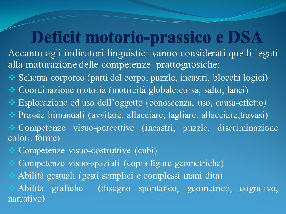 Deficit motorio-prassico e DSA