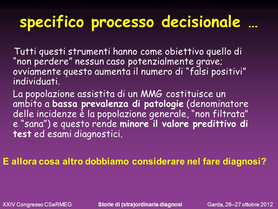 specifico processo decisionale …