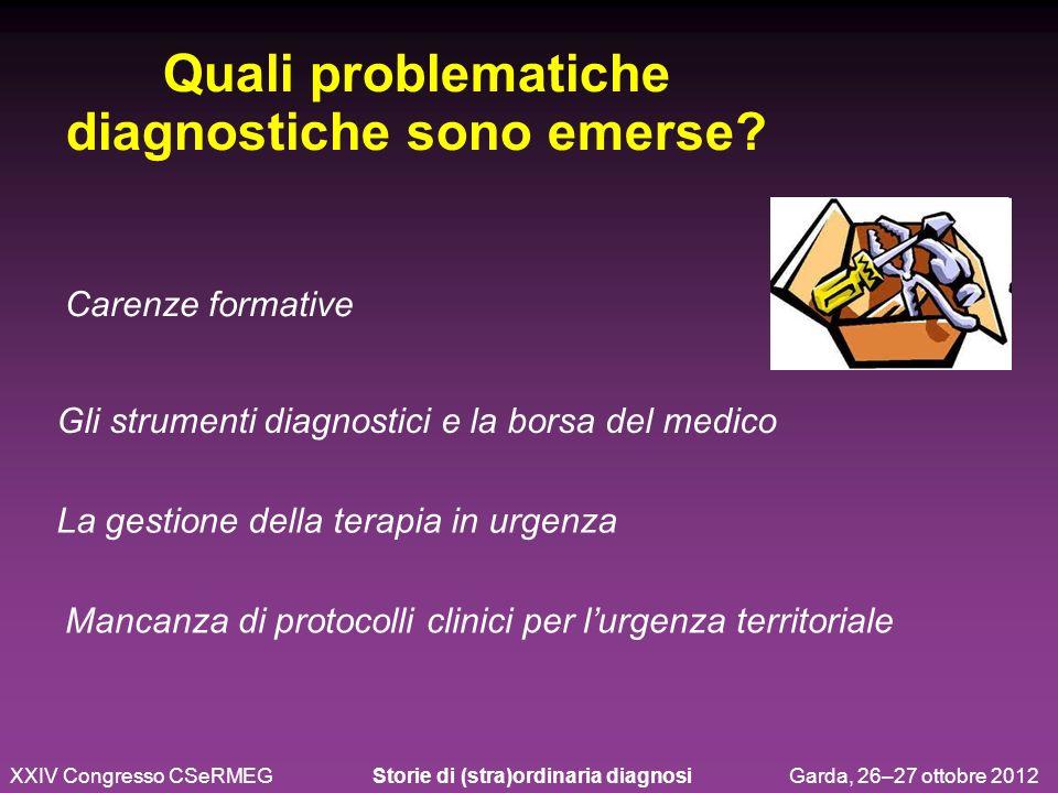 Quali problematiche diagnostiche sono emerse