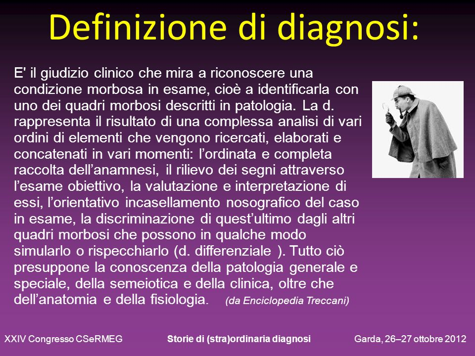 Definizione di diagnosi: