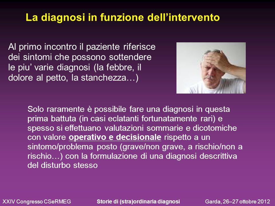 La diagnosi in funzione dell'intervento