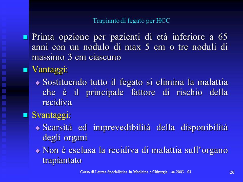 Trapianto di fegato per HCC