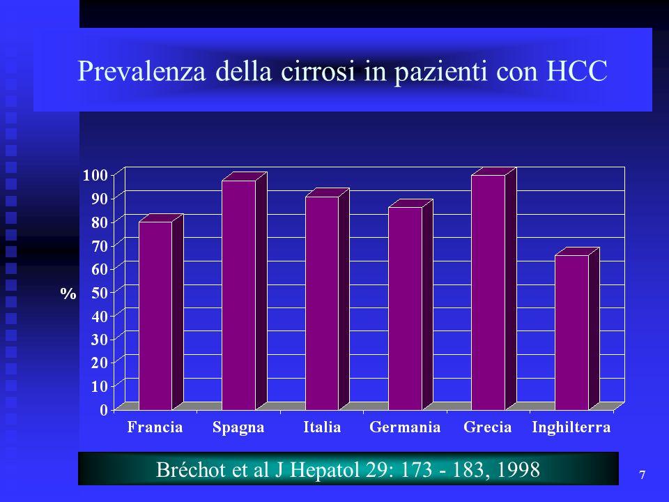 Prevalenza della cirrosi in pazienti con HCC