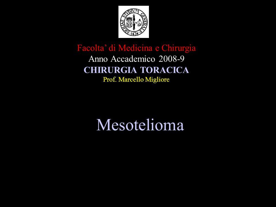 Mesotelioma Facolta' di Medicina e Chirurgia Anno Accademico 2008-9