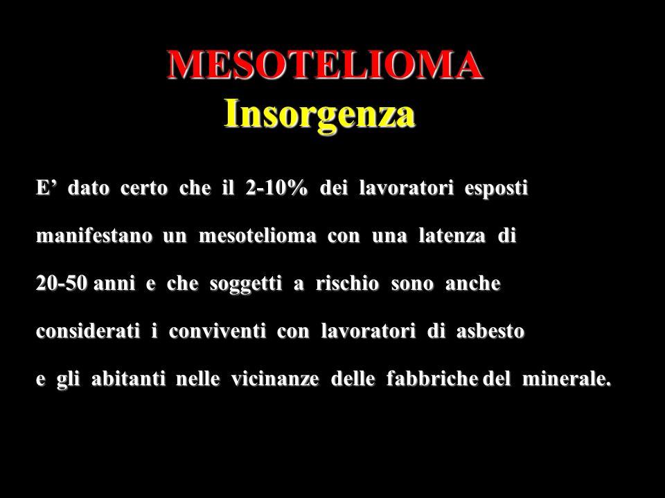 MESOTELIOMA Insorgenza