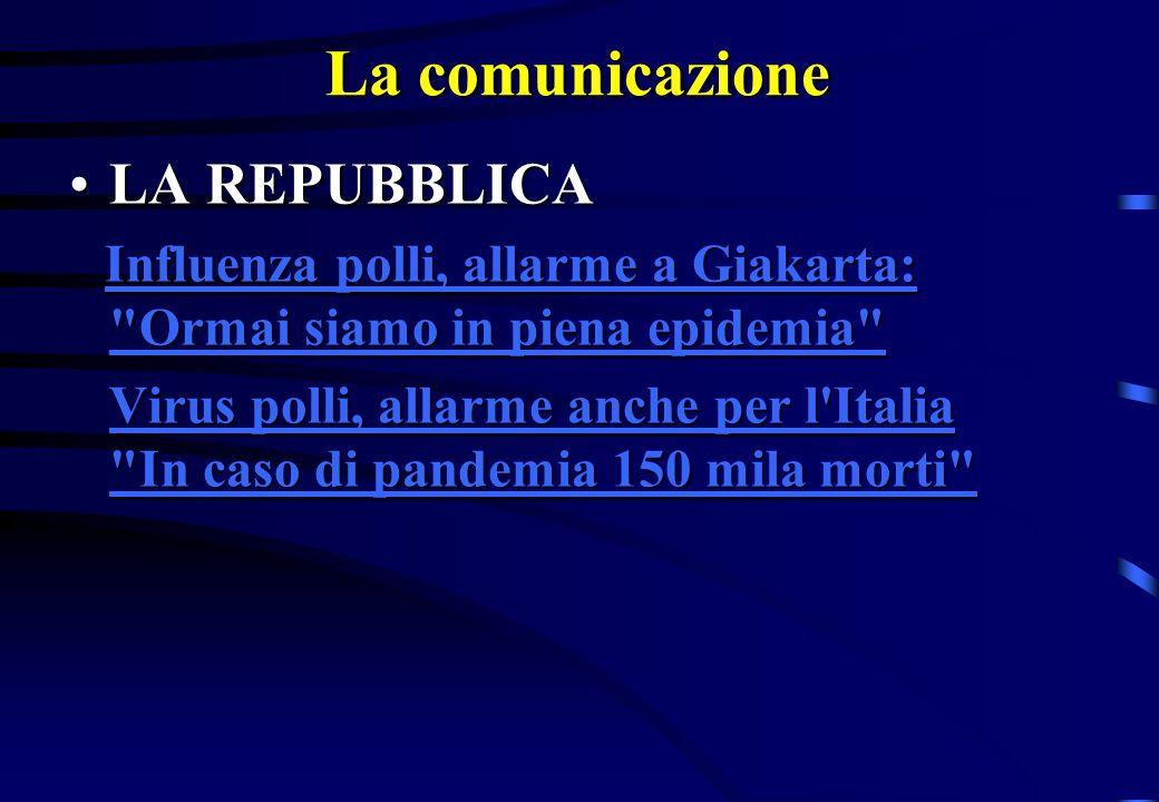 La comunicazione LA REPUBBLICA