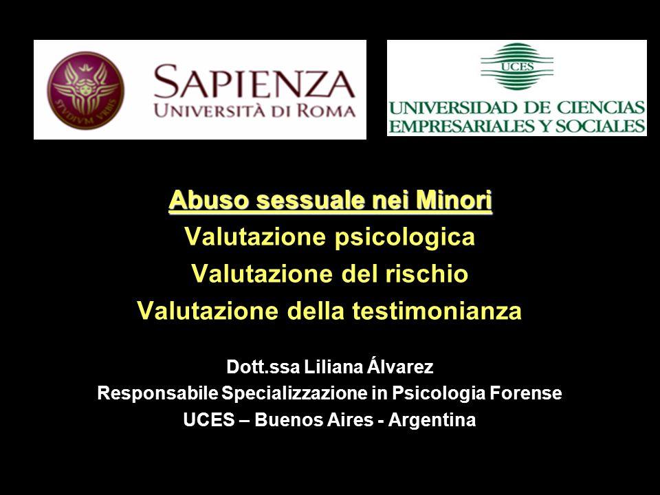 Abuso sessuale nei Minori Valutazione psicologica
