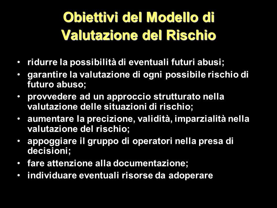 Obiettivi del Modello di Valutazione del Rischio