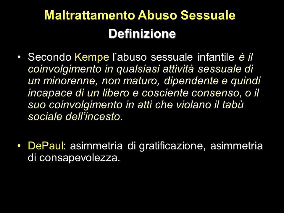 Maltrattamento Abuso Sessuale Definizione