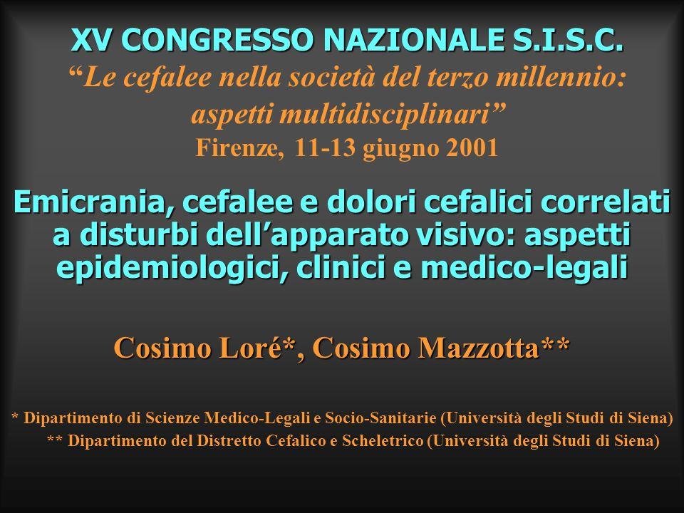 Cosimo Loré*, Cosimo Mazzotta**